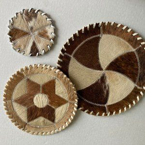 Vintage Animal Hide Placemat Coaster Wall Decor